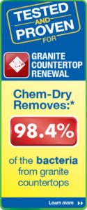 Chem-Dry's granite countertop renewal process removes 98.4% of bacteria from granite countertops - image