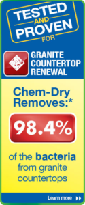 Chem-Dry's granite countertop renewal process removes 98.4% of bacteria from granite countertops - image